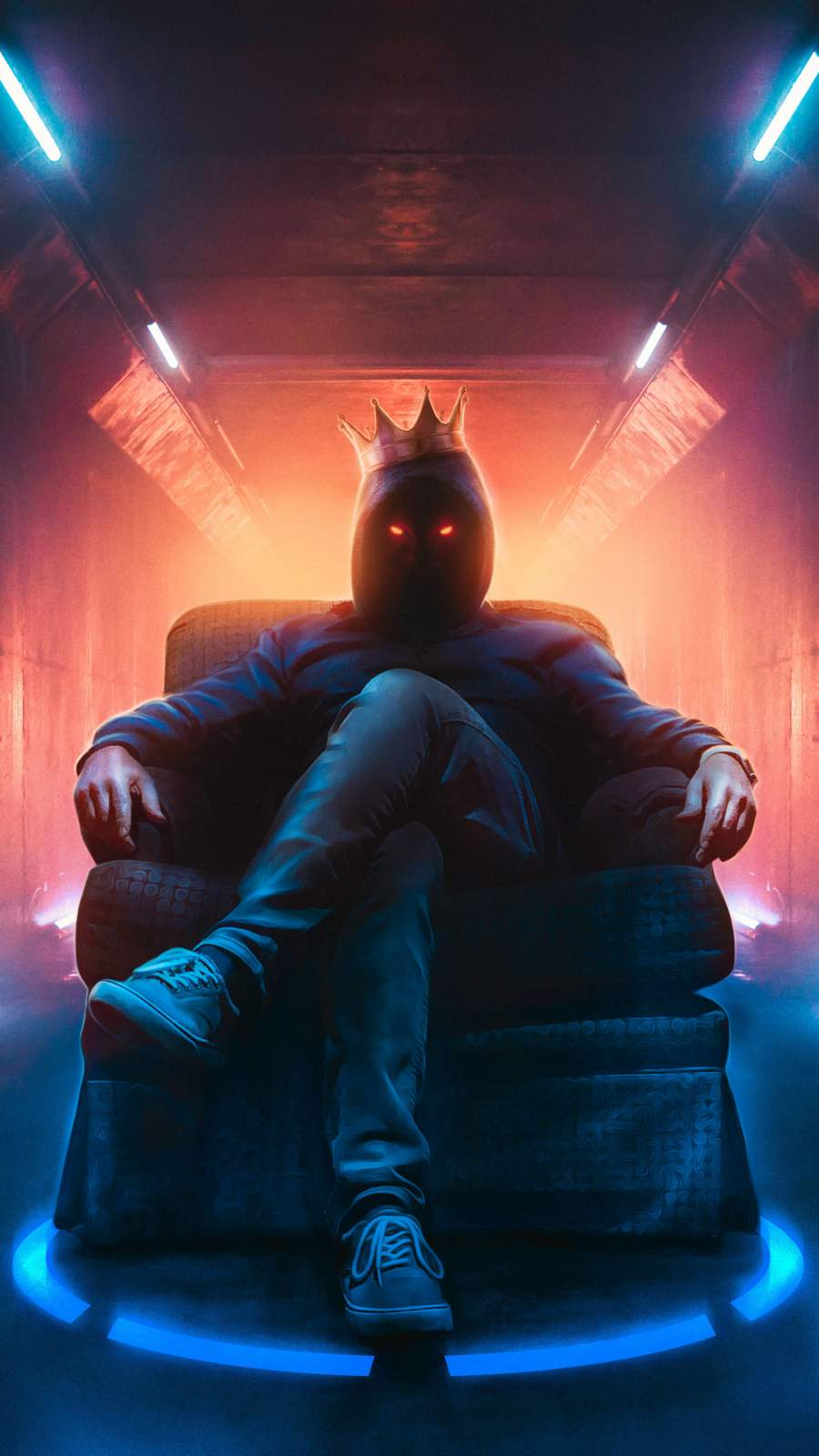 Anonymous King iPhone Wallpaper