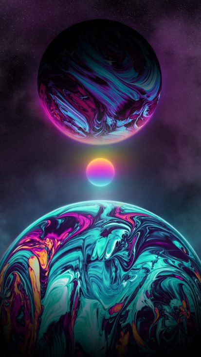 Art of Space iPhone Wallpaper