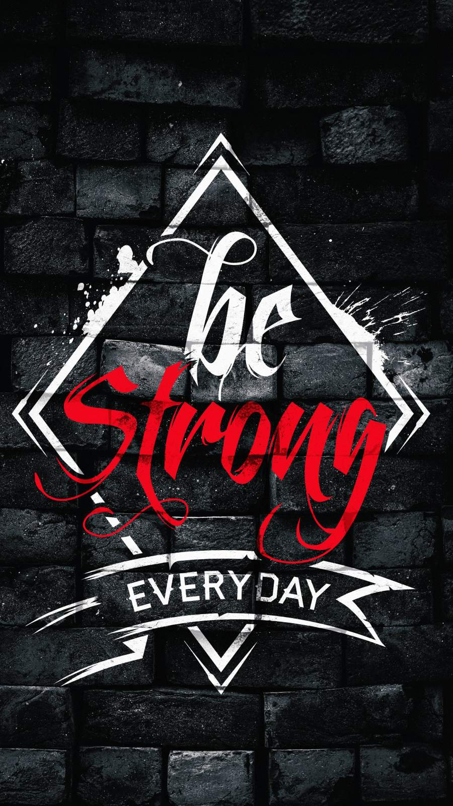 Be Strong Everyday iPhone Wallpaper