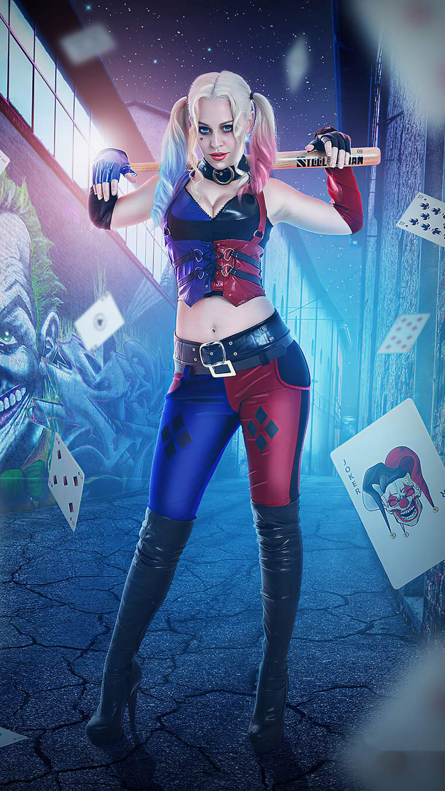 Harley Quinn Cosplay 4k Iphone Wallpaper Iphone Wallpapers Iphone Wallpapers