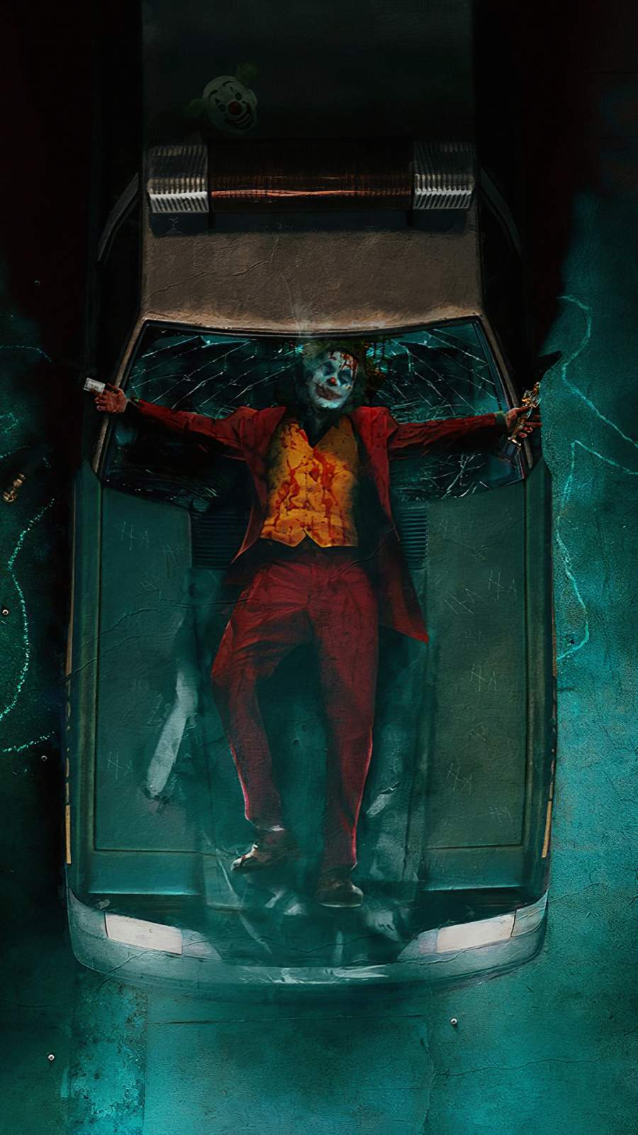 Joker Damage iPhone Wallpaper
