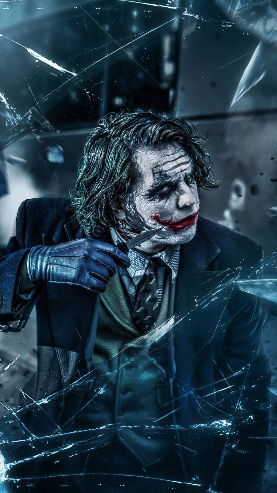 Joker with Knife iPhone Wallpaper