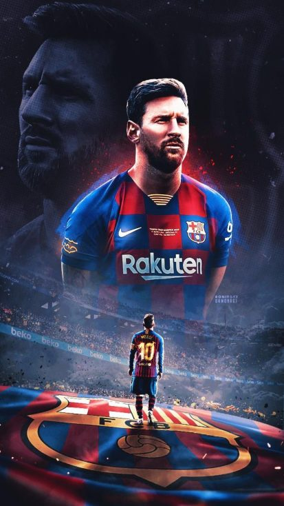 Messi Football iPhone Wallpaper