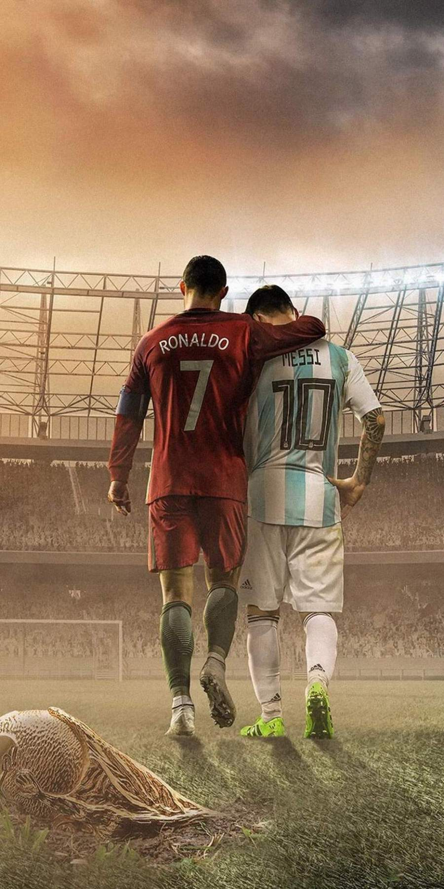 Messi and Ronaldo Football iPhone Wallpaper
