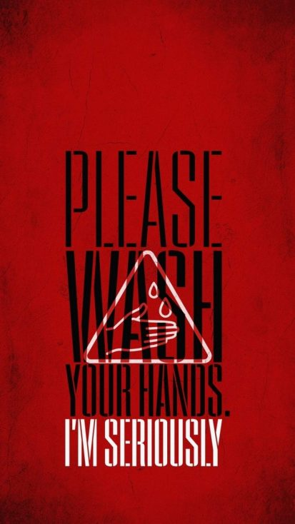 Please Wash your Hands iPhone Wallpaper