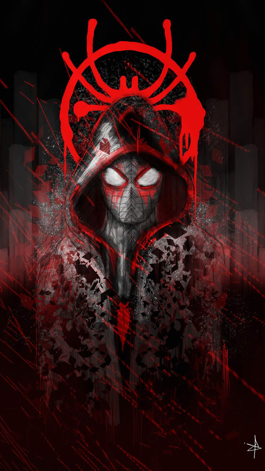Spiderman Art iPhone Wallpaper