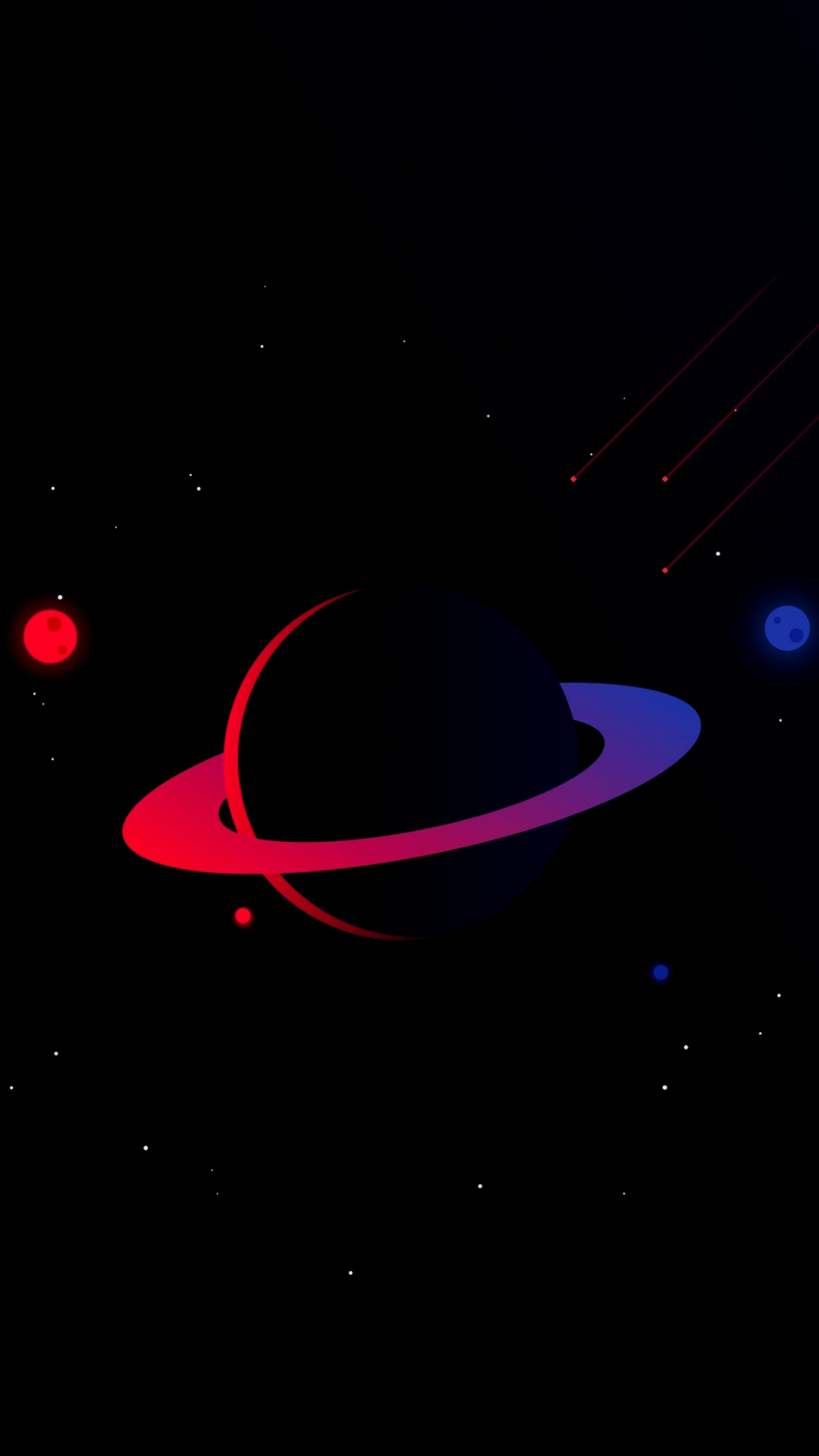 Amoled Space iPhone Wallpaper