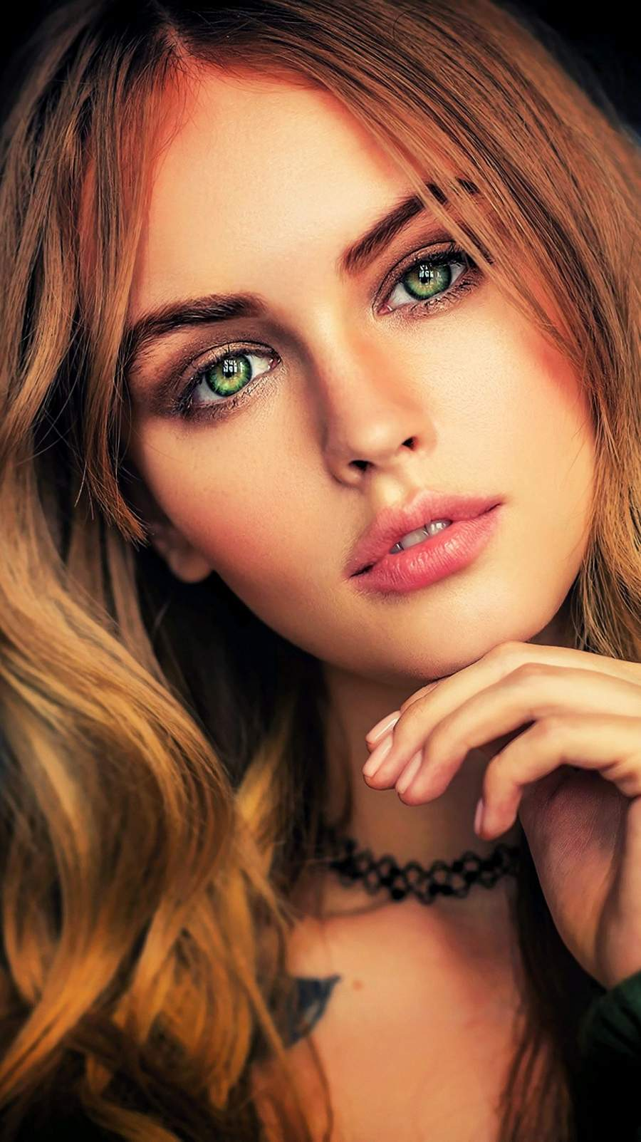 Anastasia Scheglova Beautiful Face Girl Eyes iPhone Wallpaper