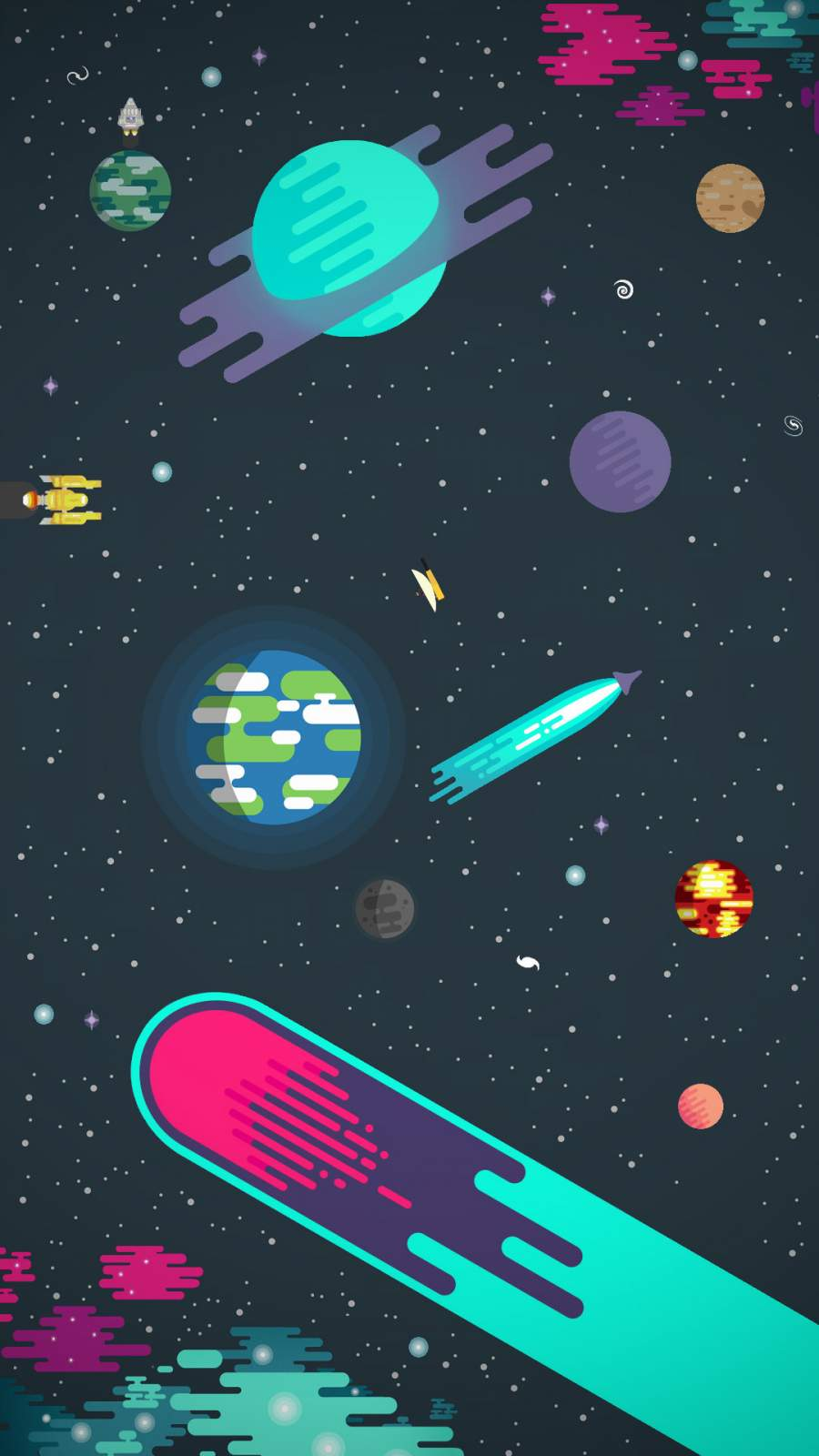 Animated Space iPhone Wallpaper 1