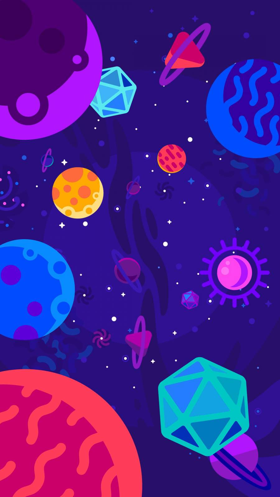 Animated Space iPhone Wallpaper