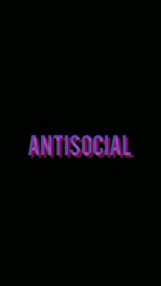 Antisocial iPhone Wallpaper