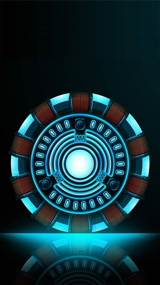Arc Reactor Neon iPhone Wallpaper