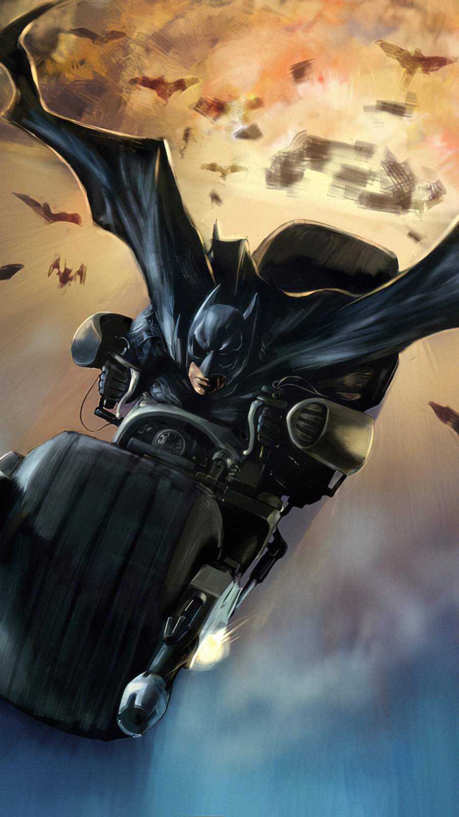 Batman Bat Mobile iPhone Wallpaper