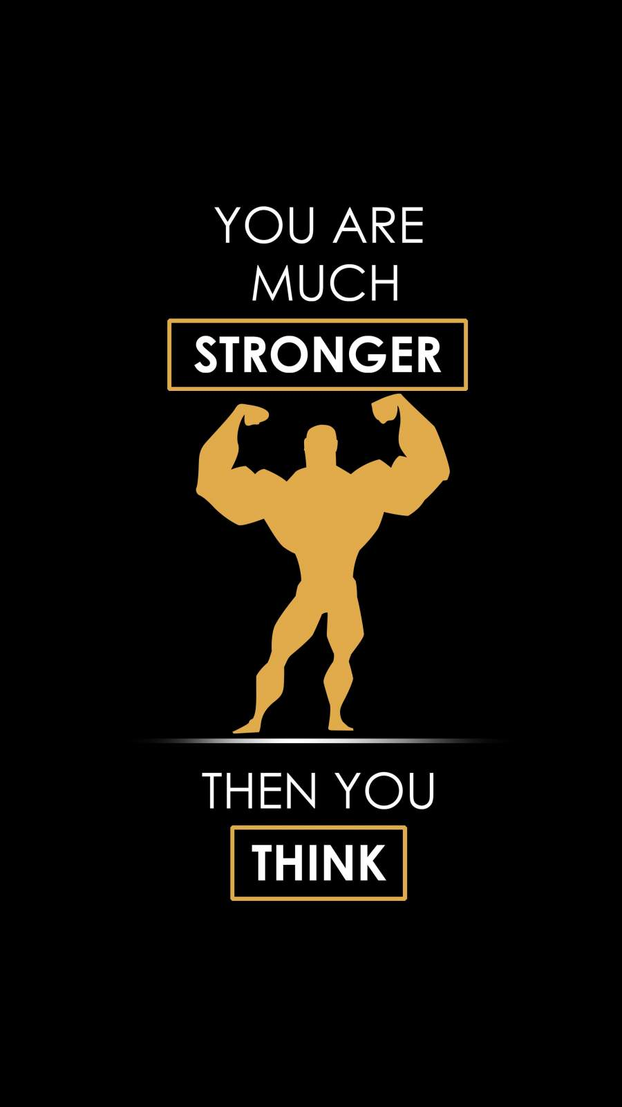 Be Strong Quote iPhone Wallpaper