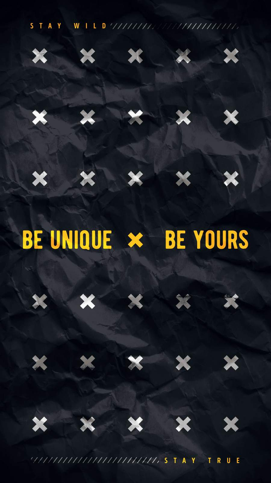 Be Unique Be Yours iPhone Wallpaper