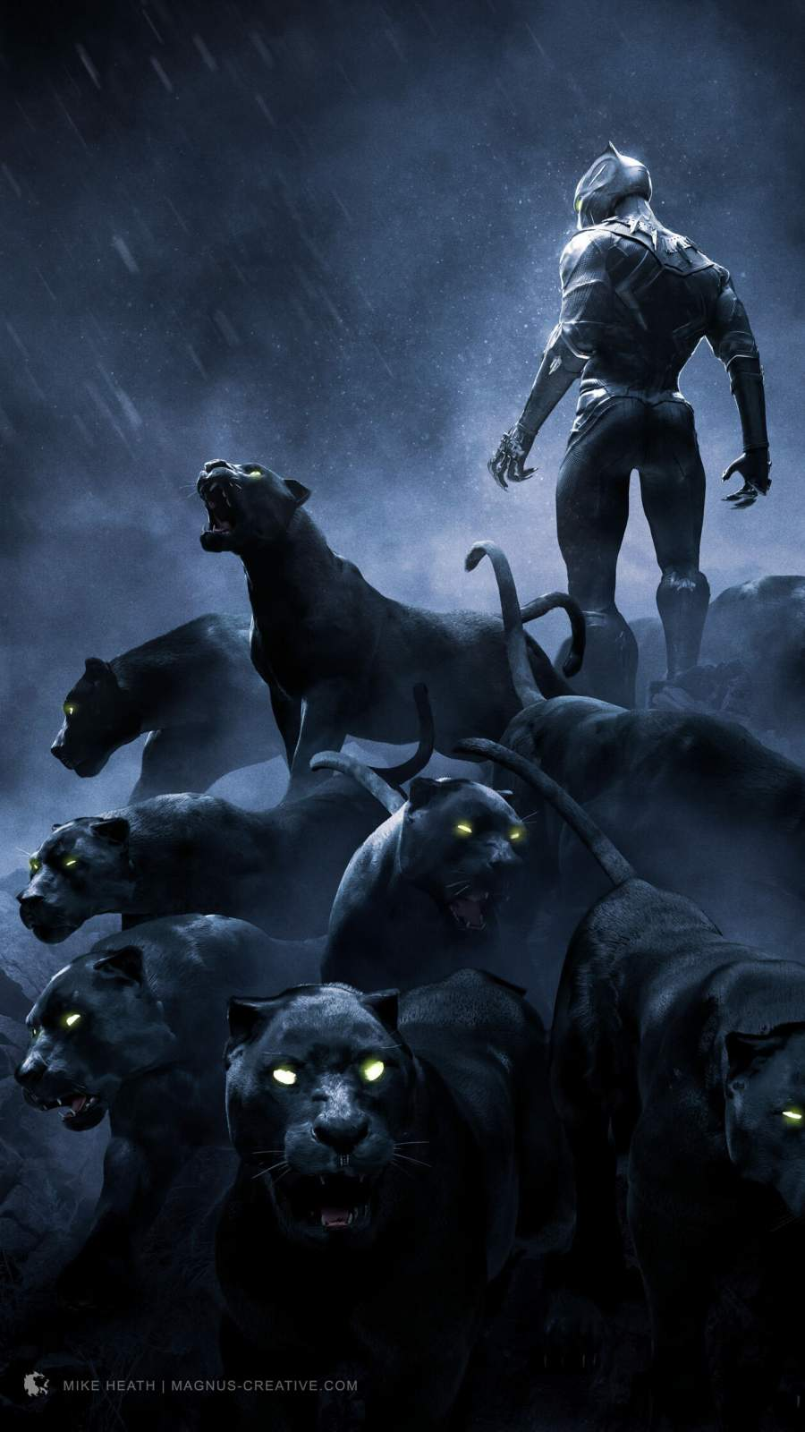 Black Panther World iPhone Wallpaper