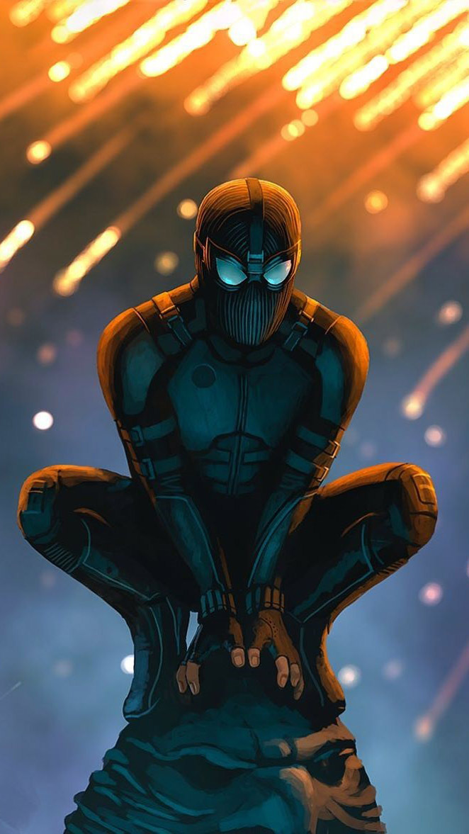 Black Spider Man iPhone Wallpaper 1