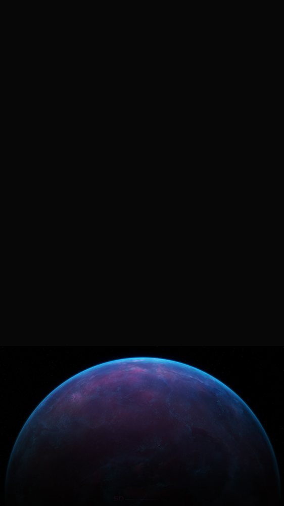 Blue Dark Planet iPhone Wallpaper