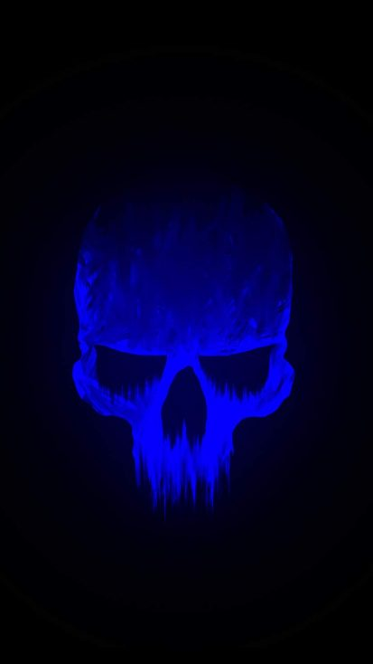 Blue Skull iPhone Wallpaper