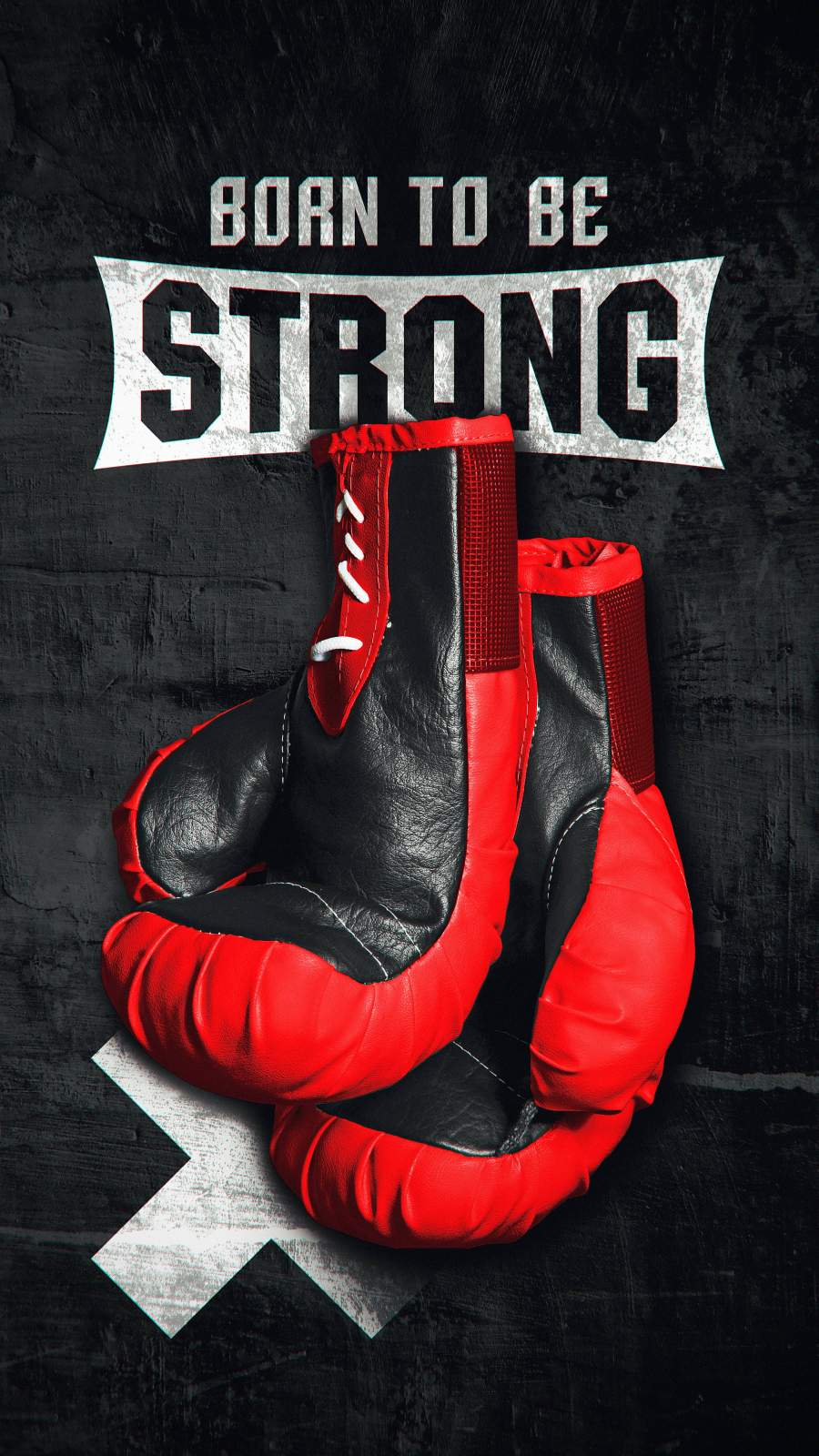 Born to be Strong iPhone Wallpaper