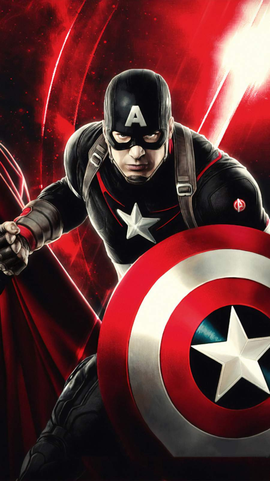 Captain America Art iPhone Wallpaper