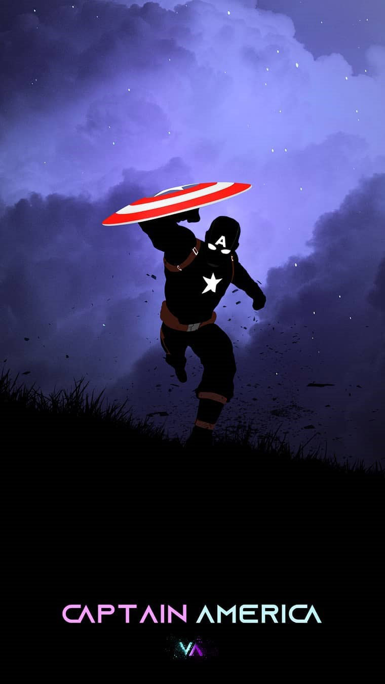 Captain America Dark iPhone Wallpaper