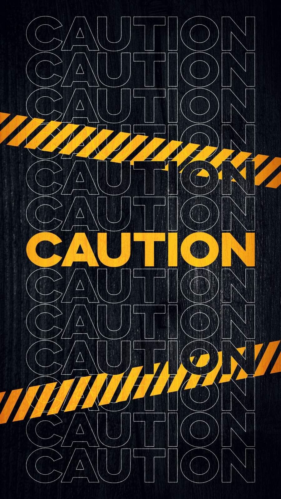 Caution iPhone Wallpaper 1