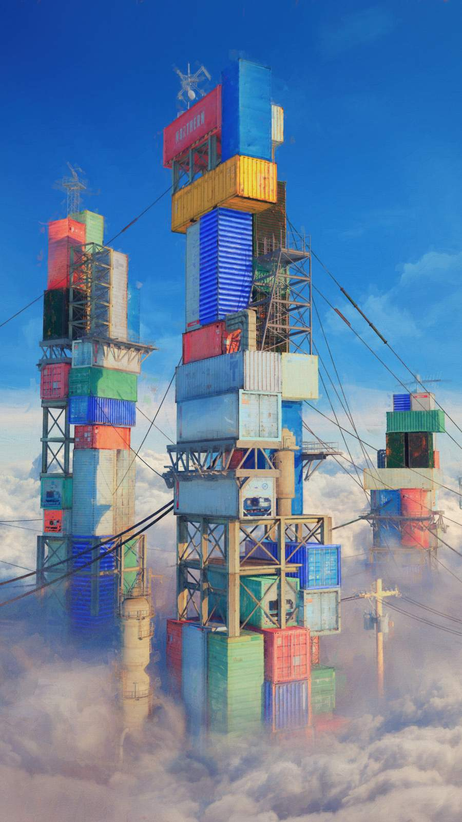 Container Buildings iPhone Wallpaper
