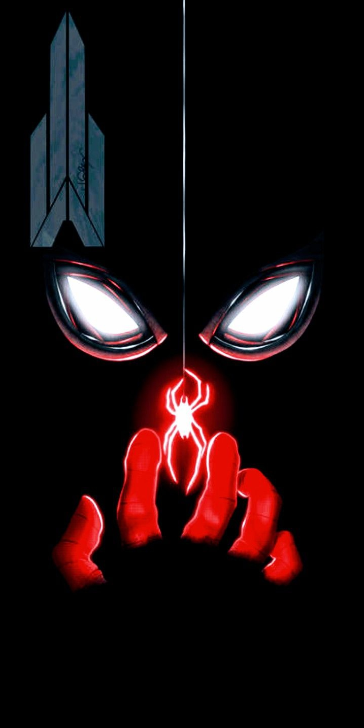 Dark Spiderman iPhone Wallpaper
