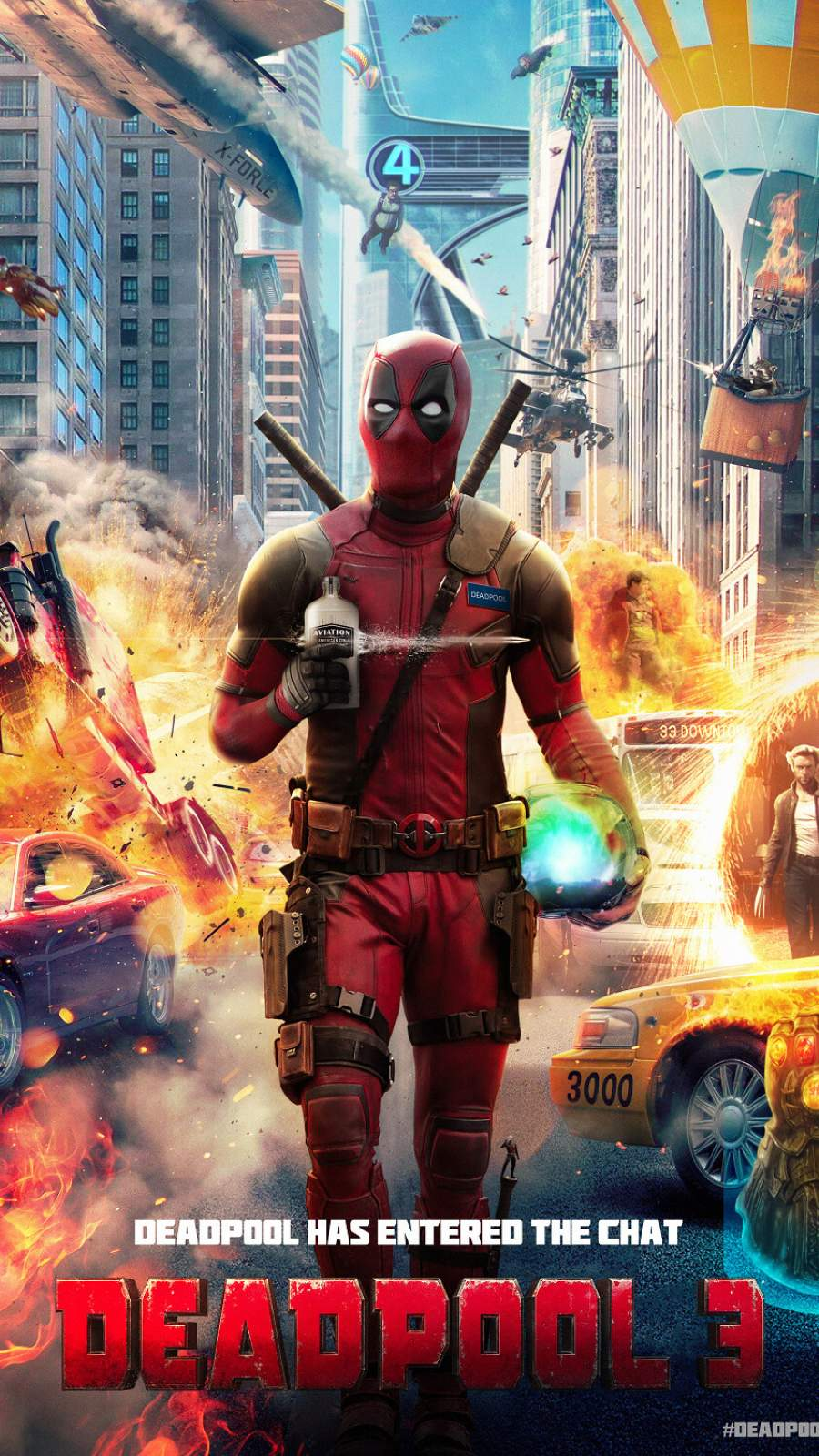 Deadpool 3 iPhone Wallpaper