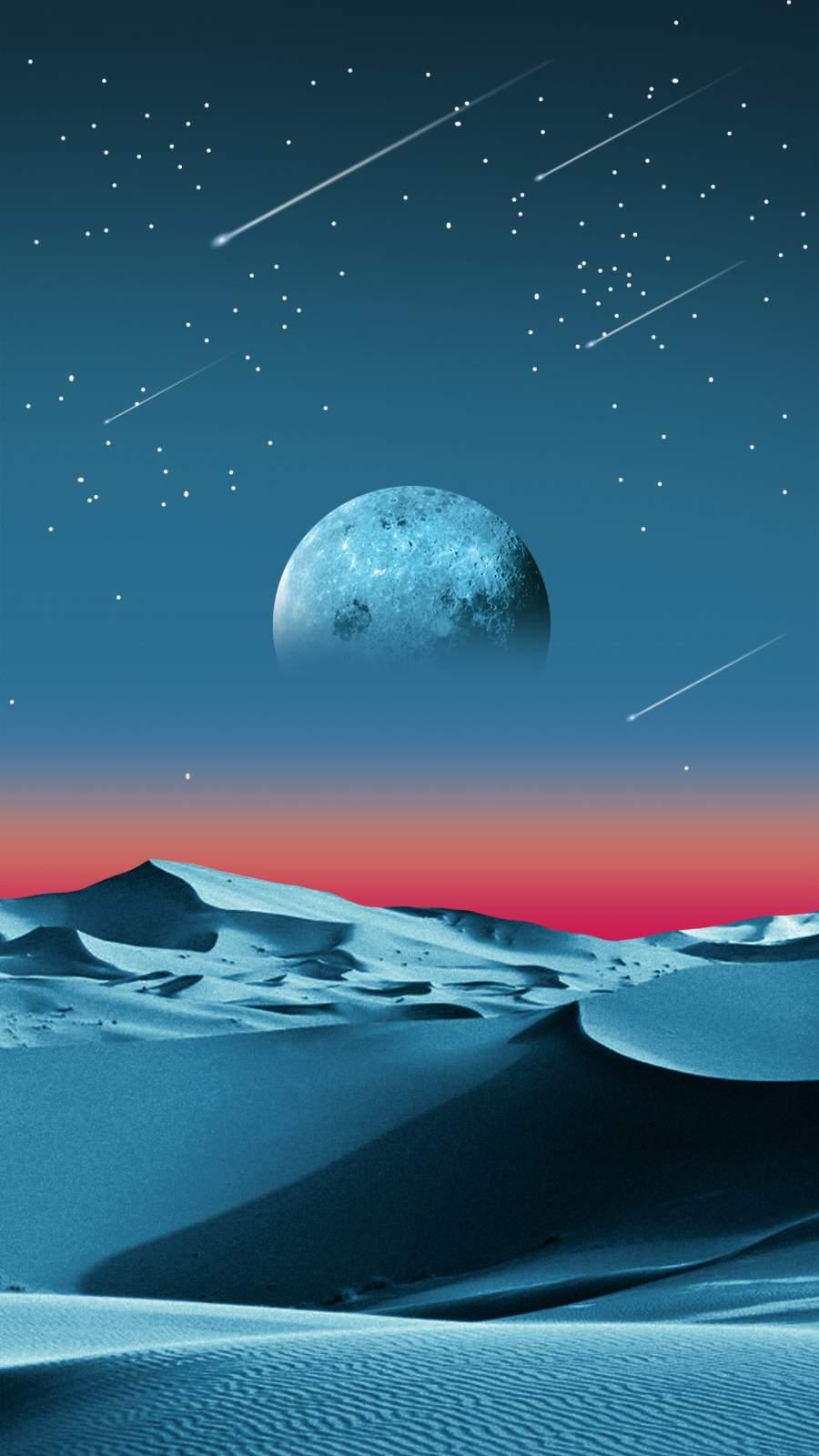 Desert Moon iPhone Wallpaper