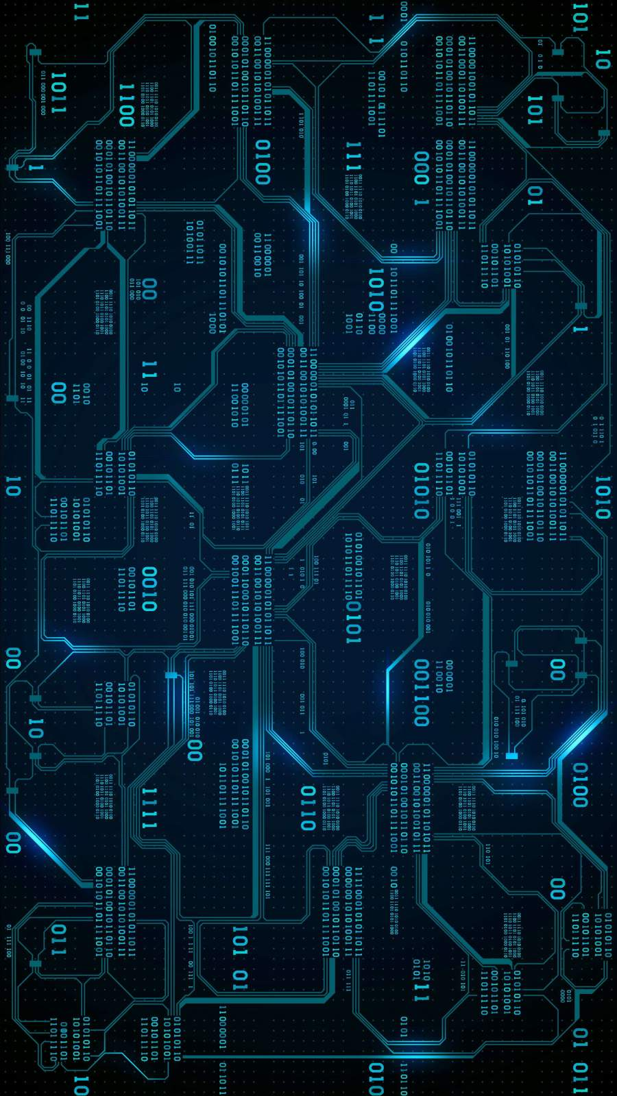 Digital Circuit Board iPhone Wallpaper