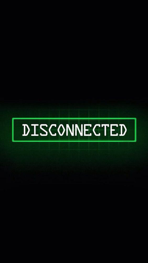 Disconnected iPhone Wallpaper