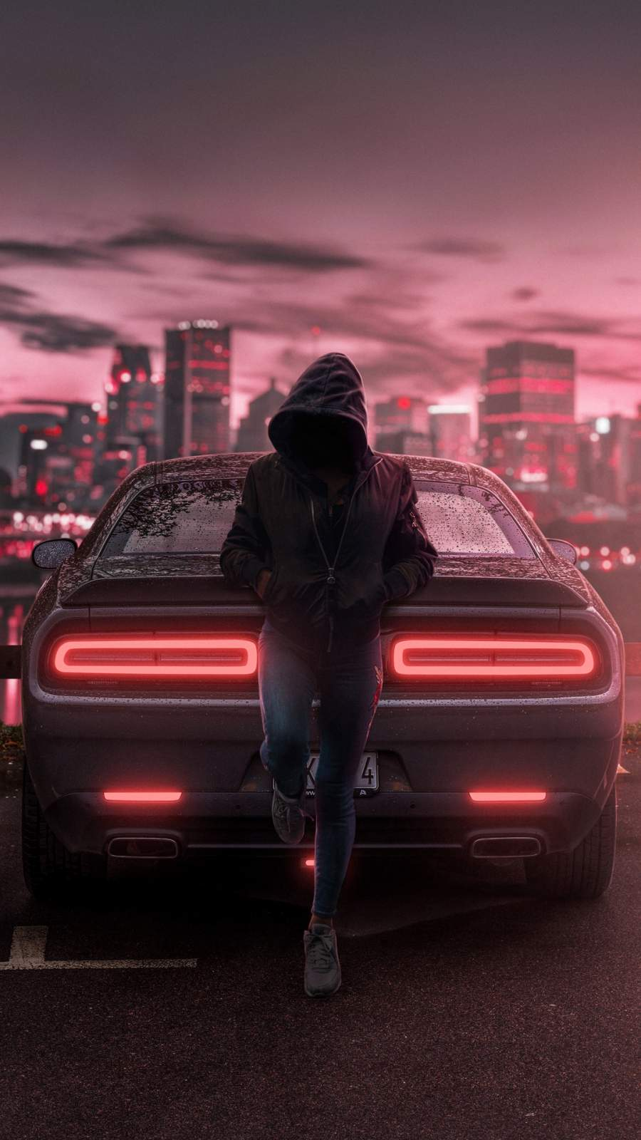 Dodge Challenger Anonymus Guy iPhone Wallpaper