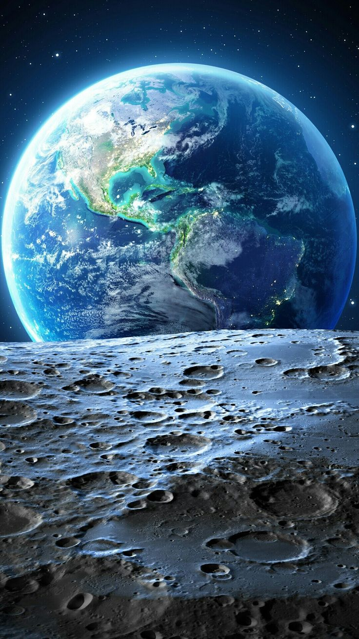 Earth From Moon iPhone Wallpaper