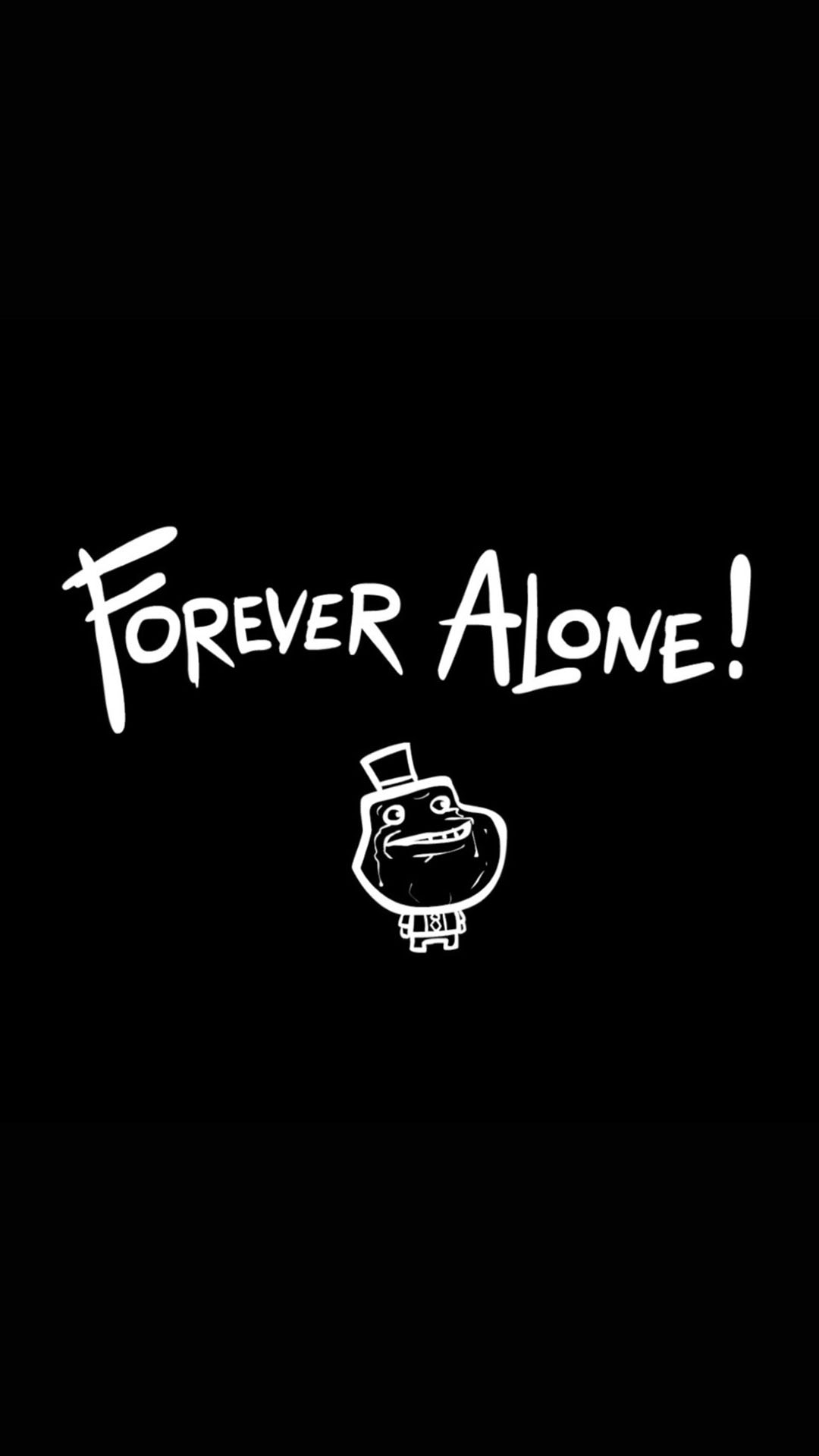 Forever Alone iPhone Wallpaper