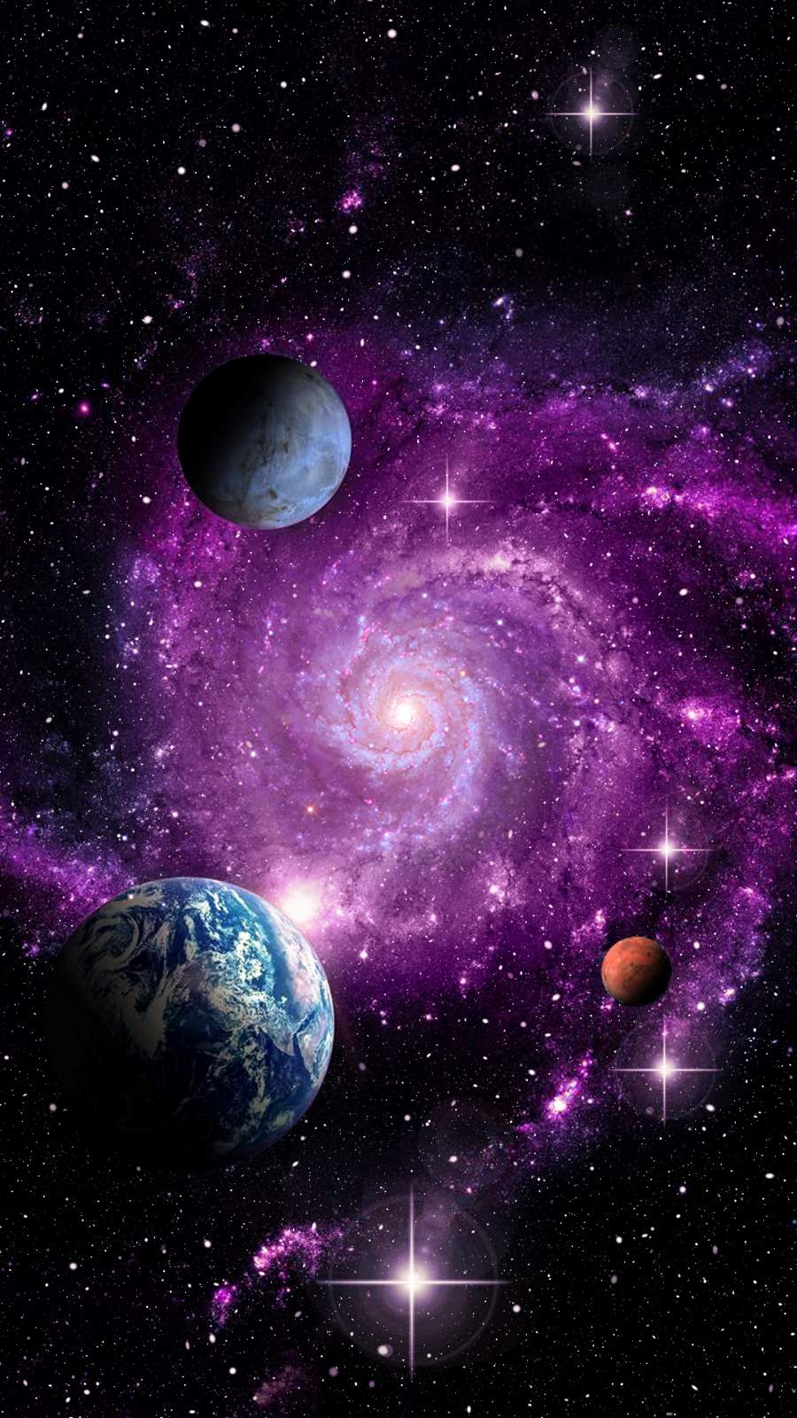 Galaxy iPhone Wallpaper
