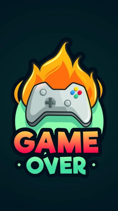 Game Over Minimalist iPhone Wallpaper