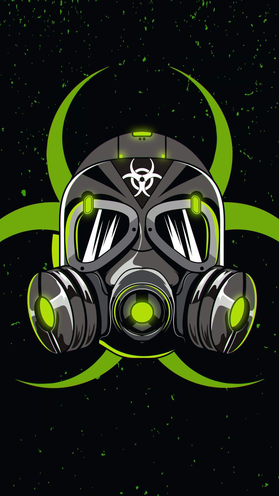 Green Mask iPhone Wallpaper