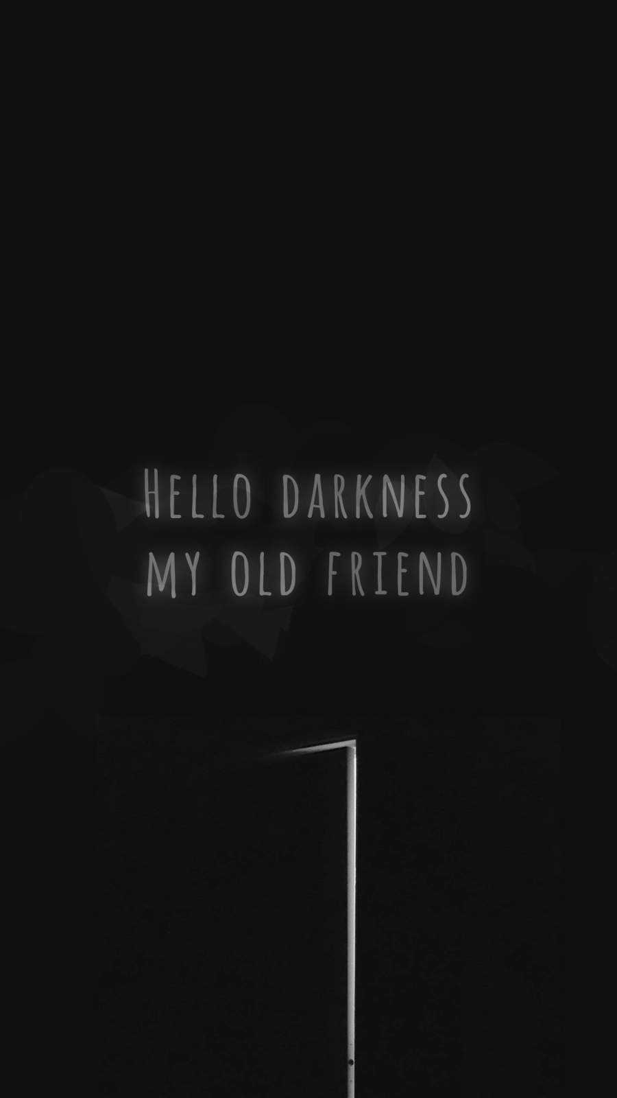 Hello Darkness iPhone Wallpaper