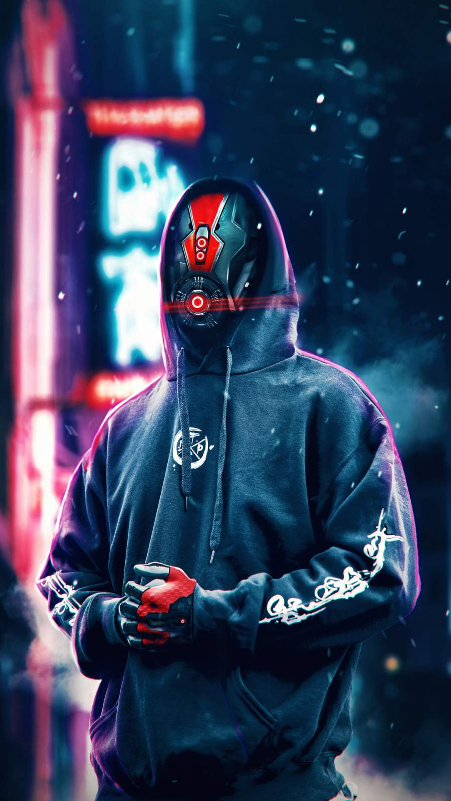Hoodie Robot SciFi iPhone Wallpaper