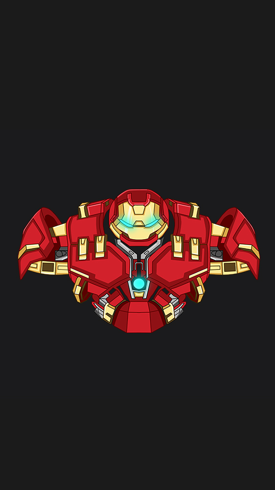 Hulkbuster Minimal iPhone Wallpaper