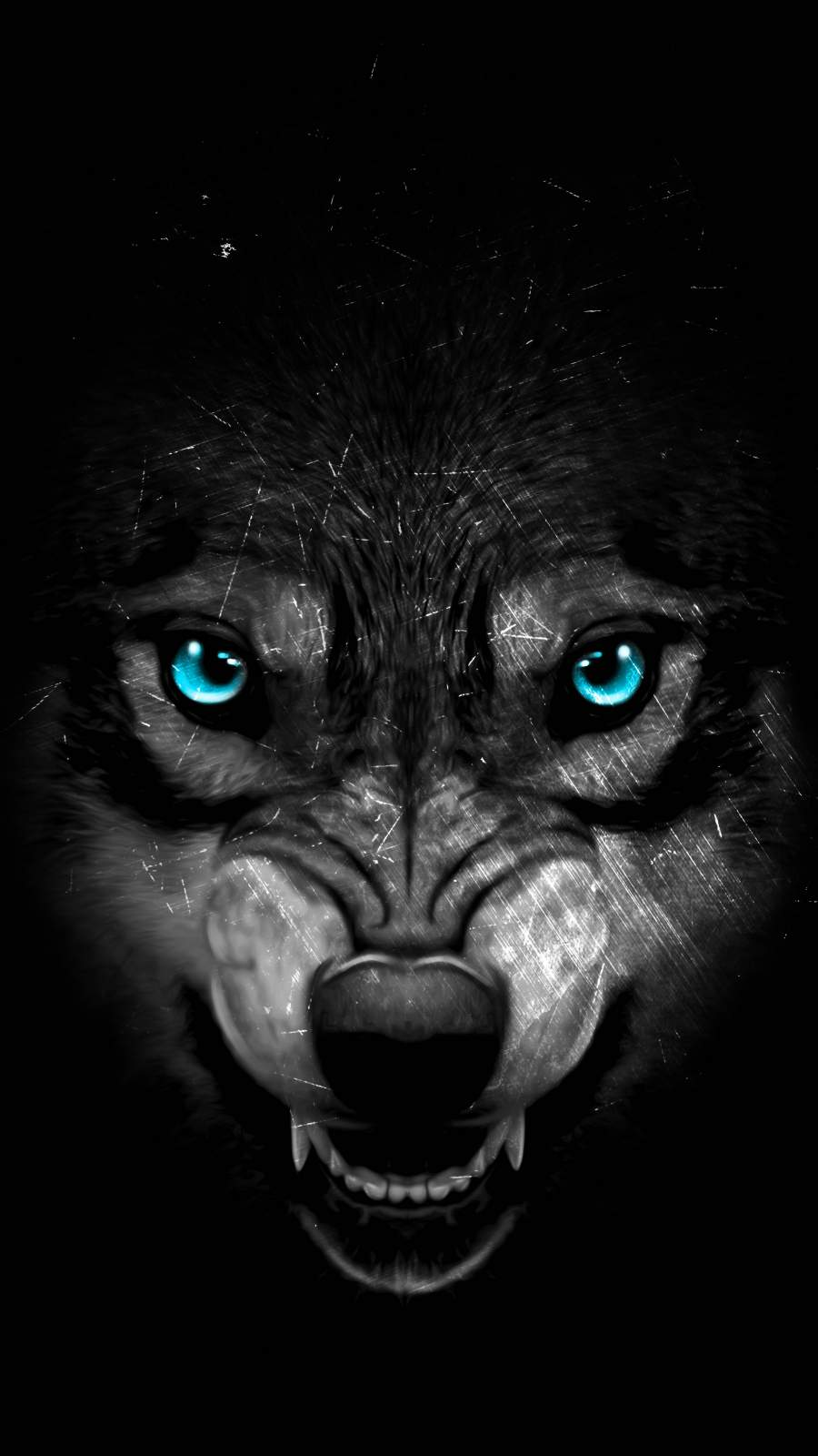 Hungry Wolf iPhone Wallpaper
