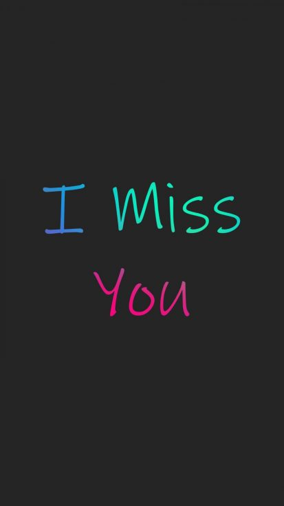 I Miss You iPhone Wallpaper