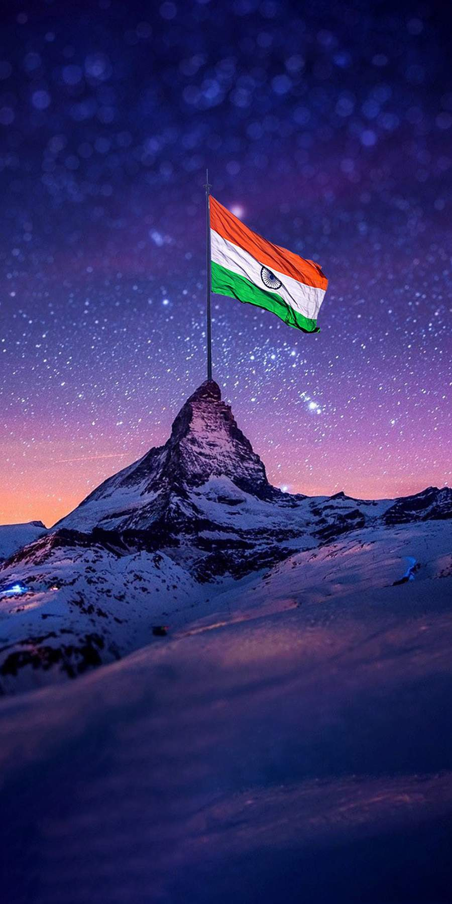 Indian Flag Mountain iPhone Wallpaper