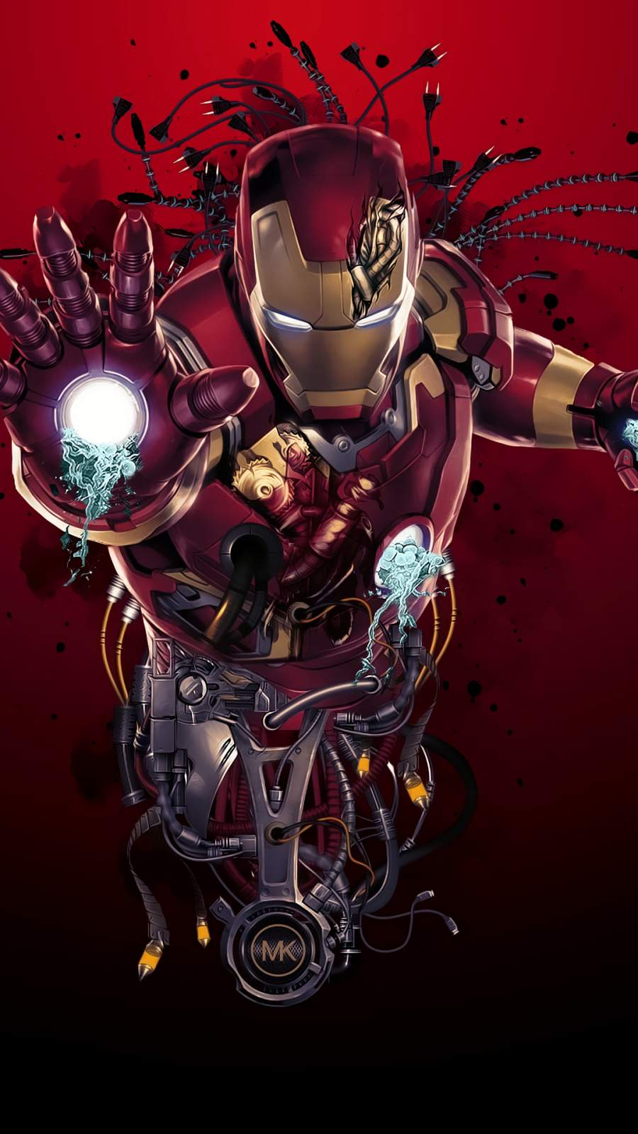 Iron Man Digital Art iPhone Wallpaper2