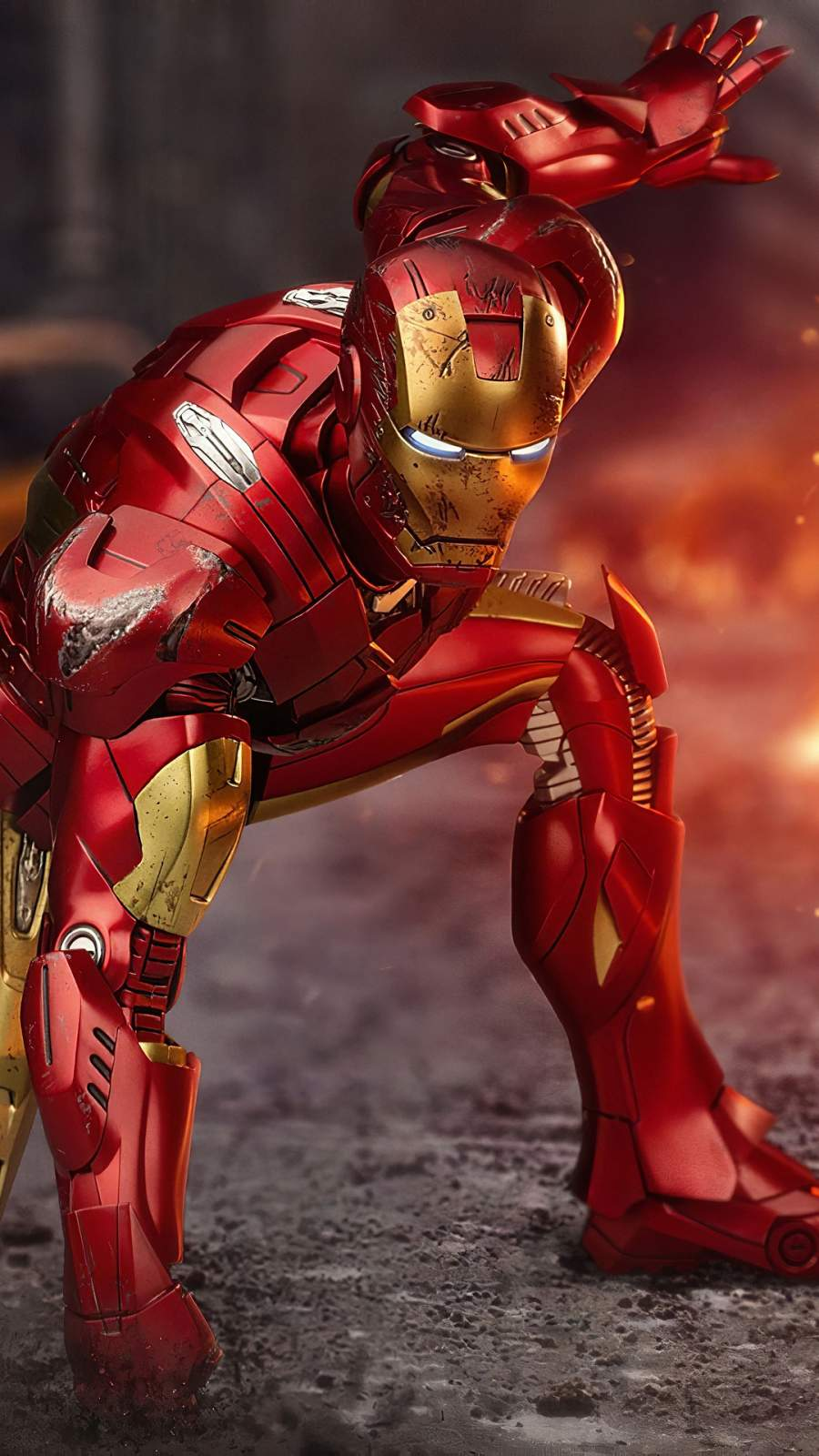 Iron Man Ready for Fight iPhone Wallpaper