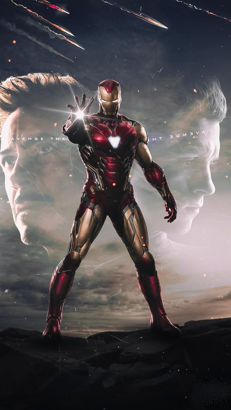 Iron Man in Final Suit Mark 85 iPhone Wallpaper