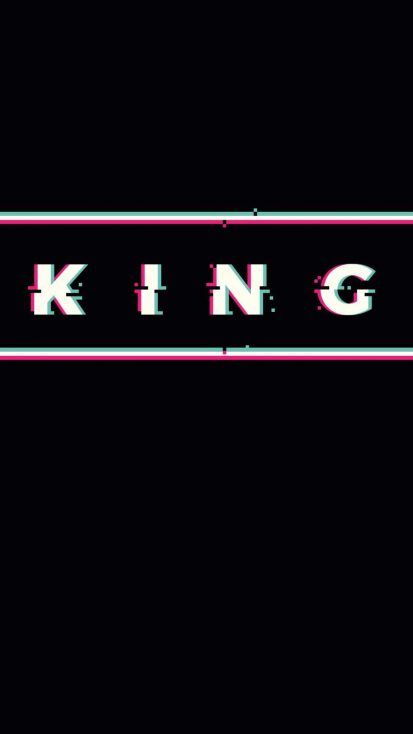 King Glitch iPhone Wallpaper