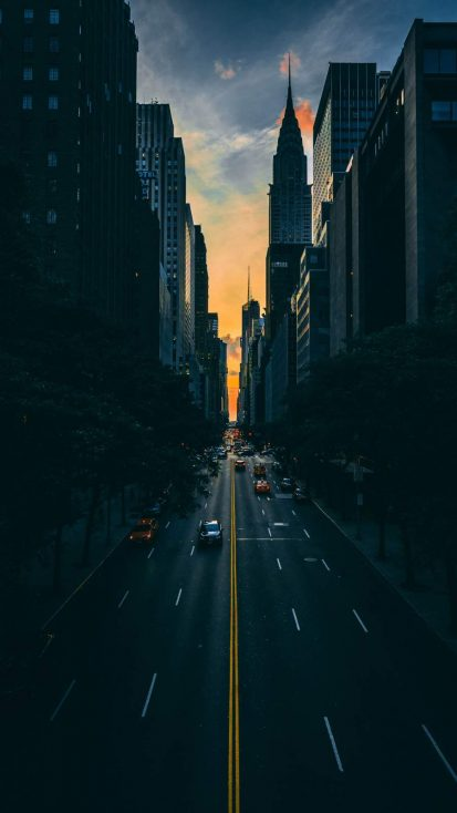 Manhattan Road iPhone Wallpaper